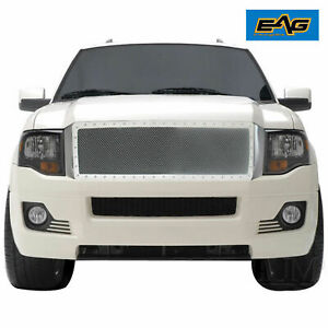 Eag 07 14 Ford Expedition Grille Rivet Chrome Stainless Steel Wire Mesh Insert