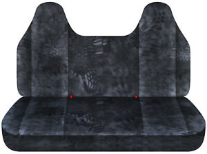 Fits 92 04 Ford F150 Truck Seat Covers Kryptek Camouflage Grey Molded Headrest