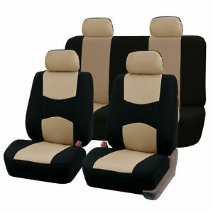 Car Seat Covers Top Quality Sport Front Back Beige Black For Car Truck Suv