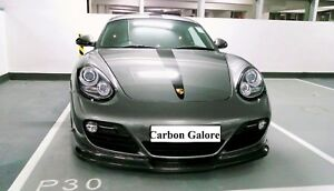 Carbon Fiber Gt3 Style Front Lip Splitter For Porsche Cayman 987 2009 2012 Pdk