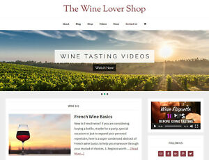 new Design Wine Lover Store Blog Website Business For Sale Auto Content