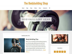 new Design Bodybuilding Store Blog Website Business For Sale Auto Content