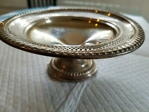 Vintage Empire Sterling Silver Weighted Pedestal Candy Dish 202