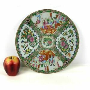19th Century Chinese Rose Medallion 11 5 Round Tray Plate Platter
