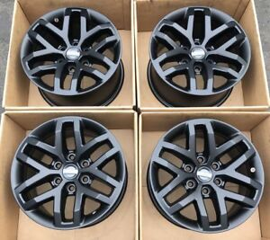 17 Ford F150 F 150 Raptor Truck Satin Black Wheels Rims Factory Oem 2017 Set 4