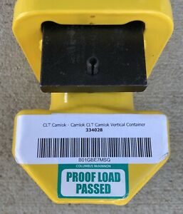 Camlok Clt Vertical Container Lifting Lugs capacity 56000 Kg Yellow