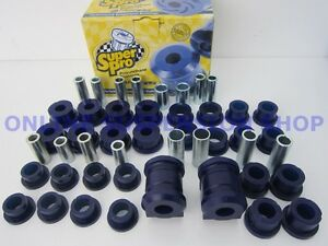 Super Pro Front Rear Suspension Bush Kit Suit Holden Nova Le Lf 89 94 Superpro