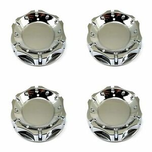 4x American Racing Chrome Top 4 1 4 Od Snap In Wheel Center Hub Caps