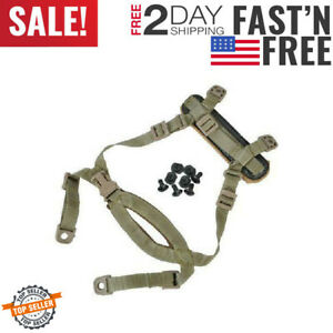 Tan Points Tactical Helmet Chin Strap with Bolts and Screws for MICH ACH Helmet