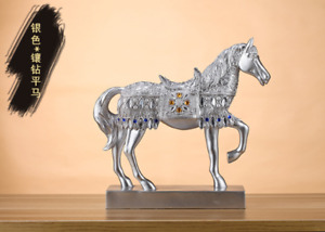 Horse Ornaments Office Furnishings Gift Wine Cabinet Statue Study Room Figurines