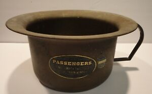 Vintage Brass Chamber Pot For Central Pacific Railroad