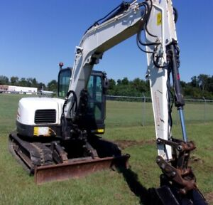 2012 Bobcat E80 Rubber Tracks Q c Aux Blade A c Only 3111 Hours
