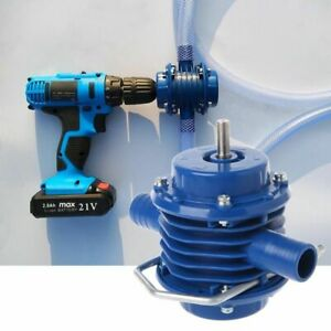 Electric Drill Water Pump Self Priming Portable Transfer Centrifugal Heavy Duty