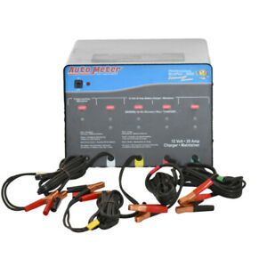 Autometer Buspro 5000 4 Bank Multi Battery Charger 20 Amp Each