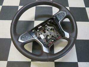 2014 2017 Chevrolet Silverado 1500 Steering Wheel Brown Leather Heated 23423478