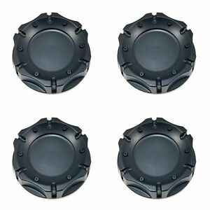 4x American Racing Atx Series Black 4 1 4 Od Snap in Wheel Center Hub Caps