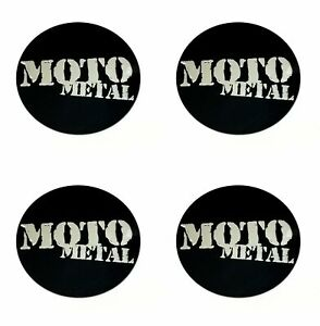 4x Moto Metal Matte Black 2 5 16 Wheel Center Caps Logo Sticker 5 Lug 5x4 5 5