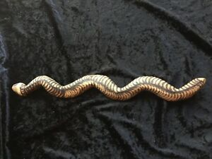 Old Aboriginal Carved Pokerwork Snake 47cm Long Private Collection