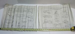 Two Early Medical Equipment Design Drawing Prints Fracture Treatment Traction
