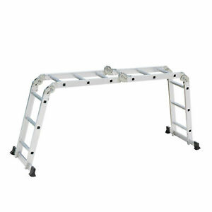 12 5ft 12step Multi Purpose Step Platform Aluminum Folding Scaffold Ladder 330lb