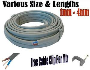Twin Earth Cable 1mm 1 5mm 2 5mm 4mm Electrical Lighting Sockets Spur Ring