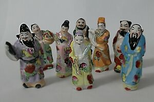 Chinese Eight Immortals Ba Xian Porcelain Figurines 4