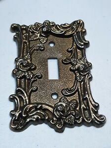 Victorian Light Switch Metal Plate 60t Vintage American Tack Hdwe 1967 Ornate