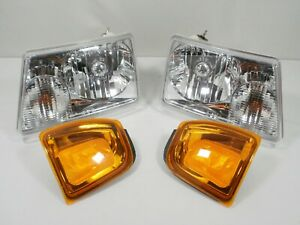 For 2001 2005 Ford Ranger Headlights And Park Turn Signal Lamps Lights Headlamps