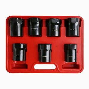 6 Point Wheel Bearing Axle Lock Nut Rounded Hex Socket Set 7pc 1 2 Dr Us Stock