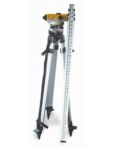 Pacific Laser Systems Pls 60497 Optical Level Kit W tripod Grade Rod New