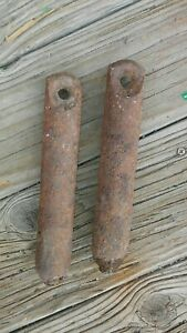 2 Old Cast Iron Window Sash Weights Early 1900 S 4 Printed On Them