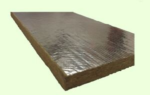 Mineral Wool Sheets 48 X 24 X 2 Thick High Temperature Foil Back Insulation