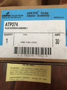 Crouse hinds Atp274 Interior Plug Assembly 30amps