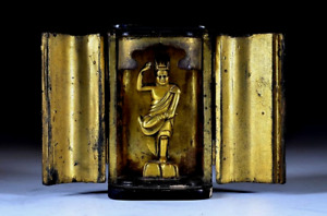 Japanese Antique Zao Gongen Gilt Bronze Statue Edo Period Buddha Buddhist Art