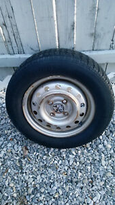 4 13 Oem Honda Civic Steel Rims With 165 70 R13 Tires 4x100