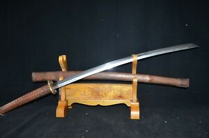 Special Offer Collectable Japanese Samurai Sword Signed Blade Oxhide Sheath