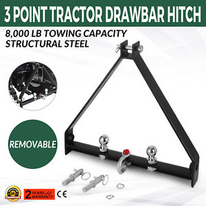 3 Point Bx Trailer Hitch Compact Tractor Drawbar Attachments High Quality Blackt