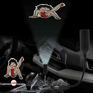 Betty Boop Sexy Lady Logo Cigarette Lighter Car Led Laser Projector Shadow Light