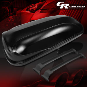 Roof Top Rail Cross Bar Cargo Box Luggage Carrier Black For 16 18 Buick Envision