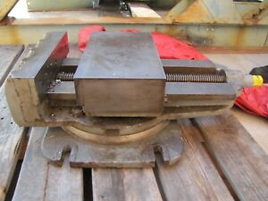 Machinist Vise From Steptoe Shaper With Table And 7 Ton Cart