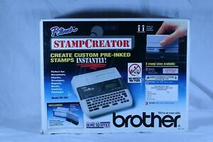 Brother P touch Stamp Creater Create Custom Pre Inked Stamps Instantly Sc 100
