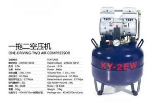 38l One Driving Two Medical Noiseless Oilless Dental Air Compressor Ce Lov