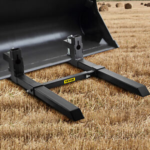Clamp On Pallet Forks W Adjustable Stabilizer Bar 2000lbs Capacity