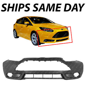 New Primered Front Bumper Cover Face For 2013 2014 Ford Focus St Hatchback 13 14