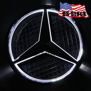 Illuminated Car Auto Led Grille Logo Emblem Light For Mercedes Benz 2013 2016