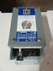Square D Gp 200b Type Gp Ground Fault Relay 24 Vac Input 100 1200 Amps Sensor