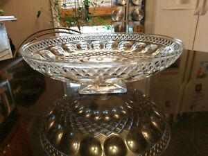Gorgeous Large Antique Glass Centerpiece Bowl