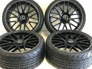 20 Staggered Mercedes Amg Wheels Tires 5x112 Satin Finish With Silver Lip New