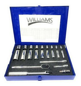 Williams Tools 23 Piece 3 8 Drive Socket And Drive Tool Set Made In Usa