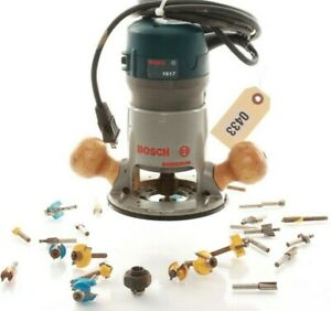 Bosch 2hp Fixed Base Router Model 1617 ___________ With Bonus Bits